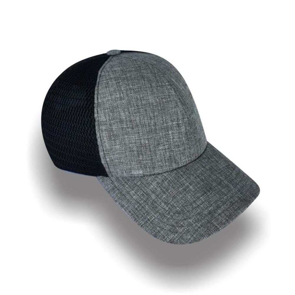 Gorra Diplomatics San Francisco de malla color negra y lino color gris