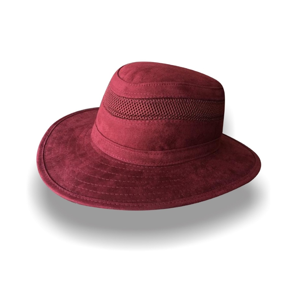 Sombrero Diplomatics Jäger Amsterdam de tela Nobuck color rojo vino